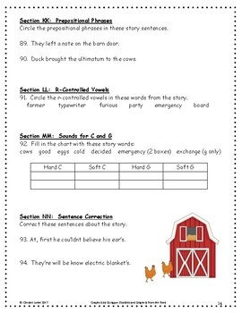 Click Clack Moo: Cows That Type ~ Language Arts Workbook ~ 2nd Grade ~ Journeys