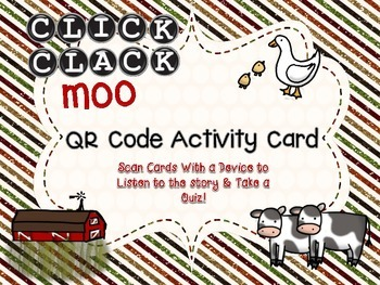 Click, Clack, Moo: Cows That Type QR Code Card