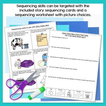 Click Clack Moo Cows That Type Speech & Language Companion Activities