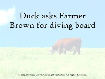 Click Clack Moo Cows That Type Task Literacy Flash Cards