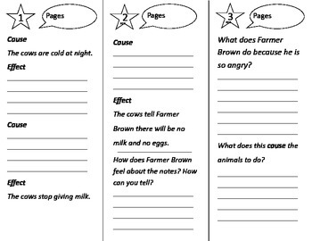 Click Clack Moo: Cows That Type Trifold - Journeys 2nd Gr U 3 Week 1 2014, 2017