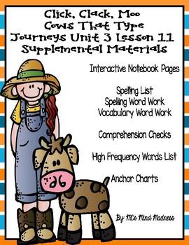Click, Clack, Moo Cows That Type Journeys Unit 3 Lesson 11