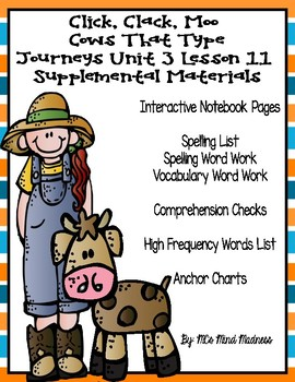 Click, Clack, Moo Cows That Type Journeys Unit 3 Lesson 11