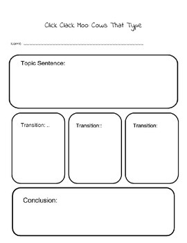 Click Clack Moo:Cows That Type - Using 6 Trait Writing to Teach Organization