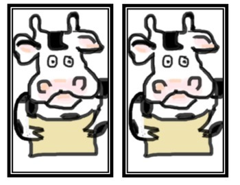 Click Clack Moo Cows That Type Vocab and Spelling Cards or Posters