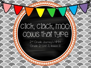 Click Clack Moo Cows That Type supplemental activities - 2