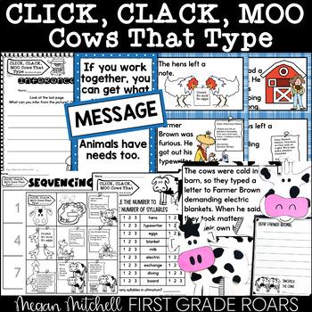 Click, Clack Moo & Cows Too!  A Fiction and Non-fiction Mi