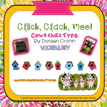Click, Clack, Moo, Cows that Type!  Vocabulary Power Point