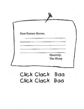 Click Clack Moo Creative Writing Activity