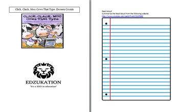 Click, Clack, Moo Doreen Cornin Common Core Reading Comprehension Unit Study