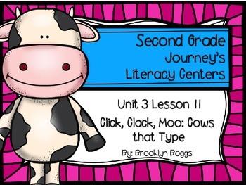 Click, Clack, Moo Journey's Literacy Centers - Second Grad