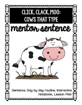 Click, Clack, Moo Mentor Sentence