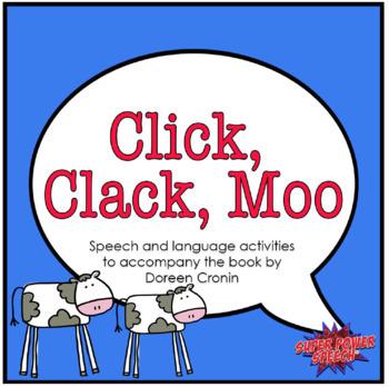 Click Clack Moo (Speech Therapy Book Companion)