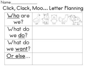 Click Clack Moo: Writing from another perspective