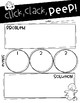Click, Clack, PEEP! comprehension craftivity