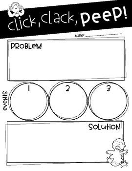 Click, Clack, PEEP! comprehension craftivity