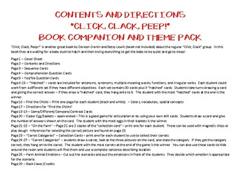 Click, Clack, Peep Book Companion and Theme Pack