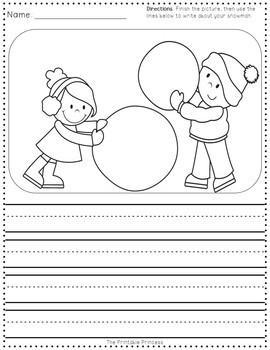 Winter Activities for Kindergarten FREE
