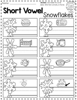 Winter Activities for Kindergarten FREE