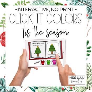 Click It Colors: Tis the Season {Interactive, No Print}