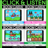 Letter Identification and Letter Sound Identification Boom Cards Bundle