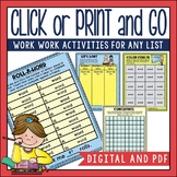 Word Study Activities for ANY Spelling List