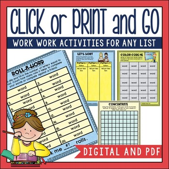Word Study Activities for ANY Spelling List | Distance Learning