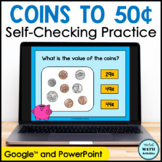Digital Counting Coins to 50 Cents Practice | Distance Learning