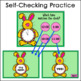 Click and Check Digital Practice Telling Time to the Hour - Bunny Edition