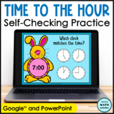 Digital Telling Time to the Hour Practice | Distance Learning