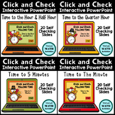 Click and Check Telling Time BUNDLE - Thanksgiving Edition