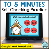 Click and Check Telling Time to 5 Minutes - Gingerbread Edition