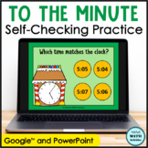 Click and Check Telling Time to the Minute - Gingerbread Edition