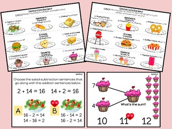 "Digital Math Center: Click and ""Chews"" Grade 1 OA SAMPLE"