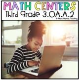 "Digital Math Center: Click and ""Chews"" Grade 3 OA.A.2"