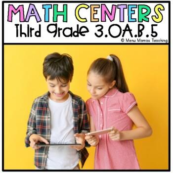 """Math Menu: Click and """"Chews"""" Grade 3 OA.B.5"""