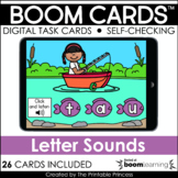Click and Listen Lowercase Letter Sound Recognition Boom Cards for Kindergarten