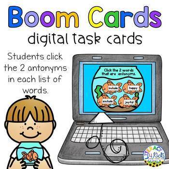 Click the Antonyms Boom Cards (Digital Task Cards)