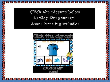 Click the digraph : Digital Task Cards with sound ** Boom Cards **