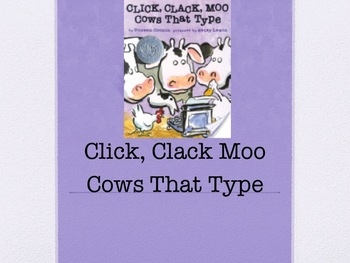 Click,Clack Moo Cows That Type Harcourt Journeys Power Poi