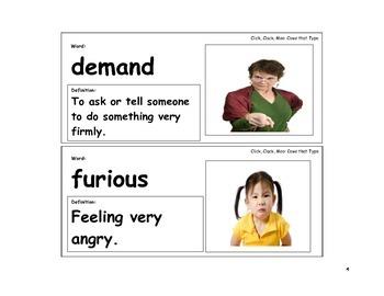 Click,Clack, Moo Vocabulary Cards