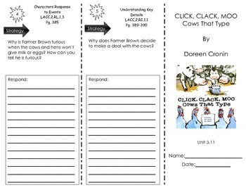 Click,Clack,Moo- Cows That Type by Doreen Cronin-Journeys Common Core