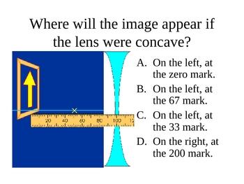 Clicker Questions on Geometric Optics