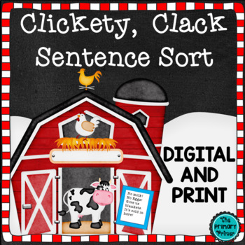 Clickity Clack Sentence Sort {Four Types of Sentences}