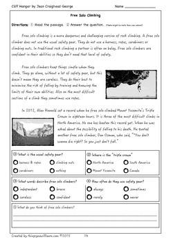 Cliff Hanger Student Workbook