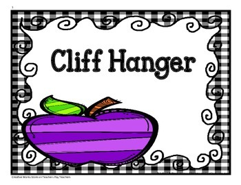 Cliff Hanger - Tri-folds + Activities