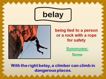 Cliff Hanger Vocabulary PowerPoint