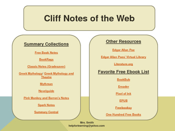 Cliff Notes of the Web