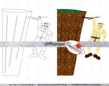 Cliffhanger Clipart by Poppydreamz