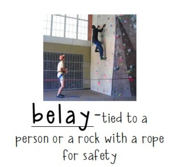 Cliffhanger Story Vocabulary Words (with pictures)